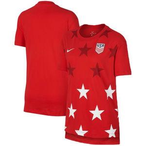 USA Soccer - Nike Women's Hi-Lo Cotton Tee